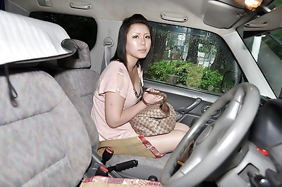 Asian lady Aya Uchiyama gets..