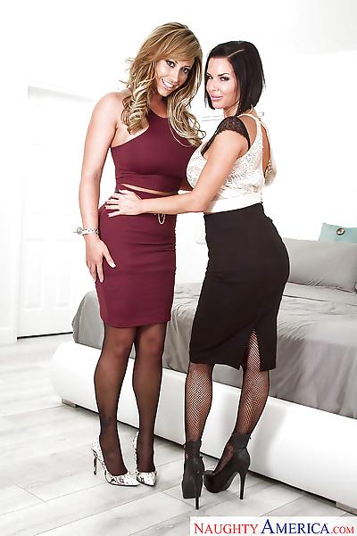 Lesbian moms Eva Notty and..