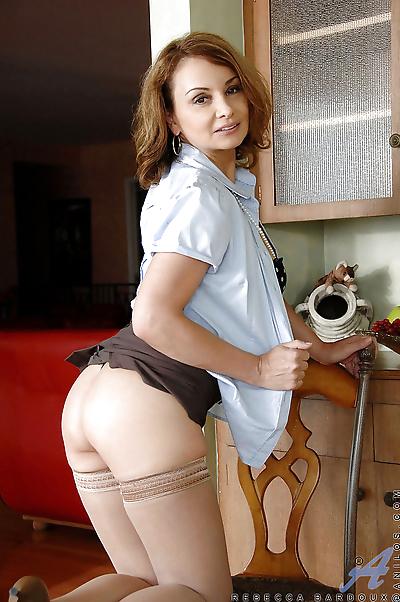 Hot mom in stockings Rebecca..