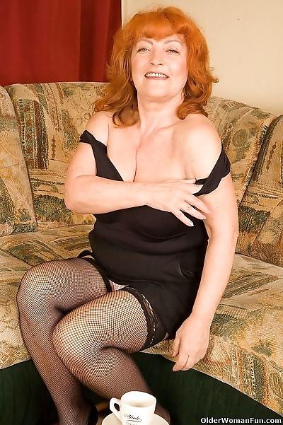 Granny eve in stockings..