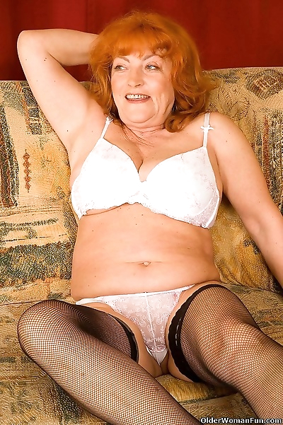 Granny eve in stockings..