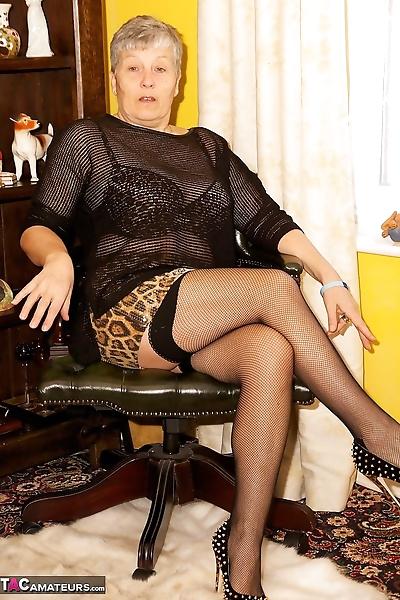 Horny old granny Savana..