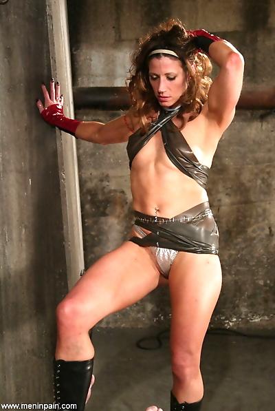 Brutal dominatrix Kym Wilde..