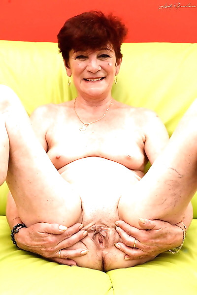 Charming granny Angela Reed..