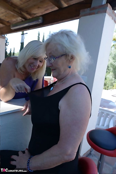 Old women share a lesbian..