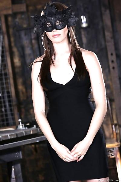 Babe in black mask Dana..