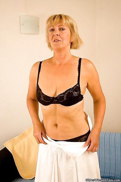 Granny eleonor strips off -..