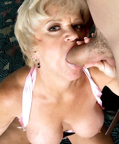 Busty blonde granny Destiny..
