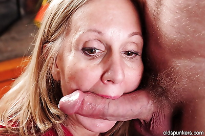 Cumshot action with an..