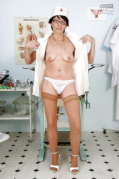 Bad Granny Nurse Strips off..