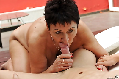 Anastasia gets young dick in..