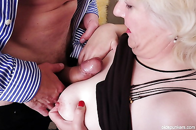 Fatty granny Toni loves BDSM..