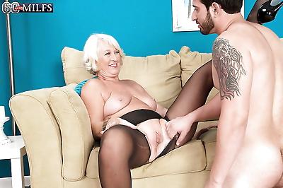 Platinum blond cougar..