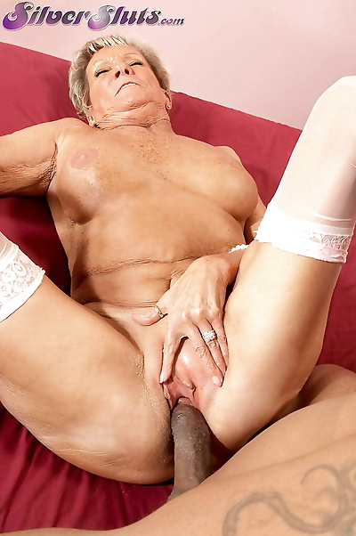 Grey haired gran Sandra Ann..