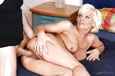 Naughty granny with big tits..