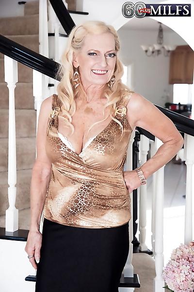 Naughty blonde granny Layla..