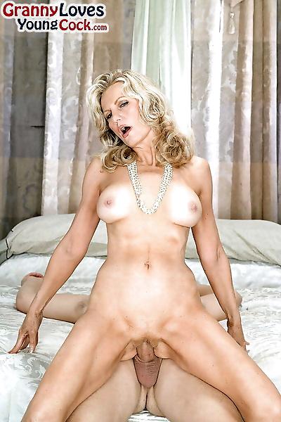 Naked granny Barushka blows..