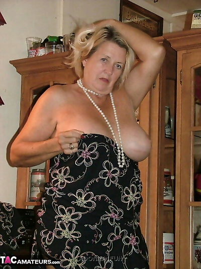 Fat grandmother with blonde..