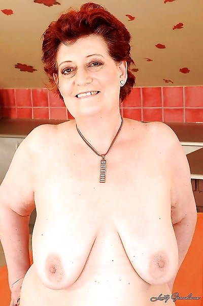 Fatty redhead granny with..