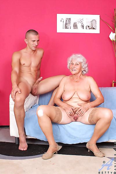 Overweight grandmother..