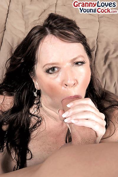 Brunette cougar Nicky White..