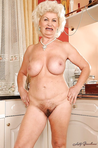 Big busted granny stripping..