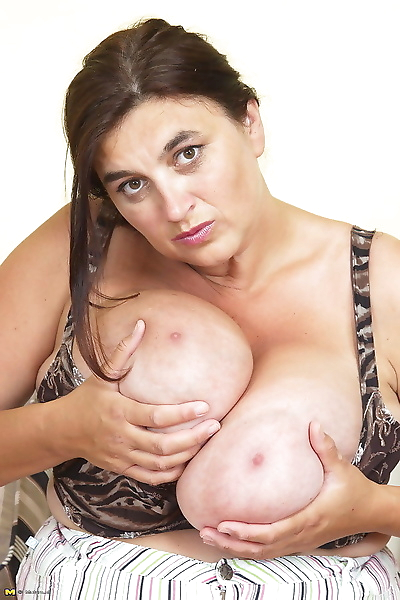 Horny huge breasted mama..
