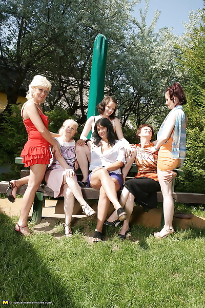 Six old and young lesbians..