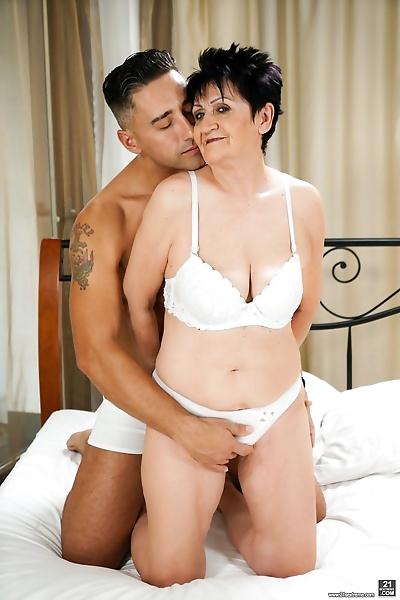 Grannys white lingerie -..