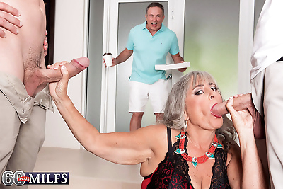 Granny silva foxx fucks two..