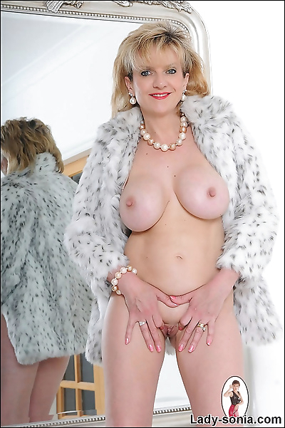 Fur coat and heels naked..