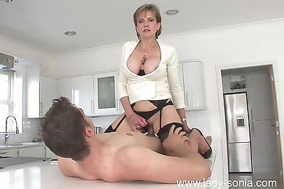 Milf in stockings lady sonia..