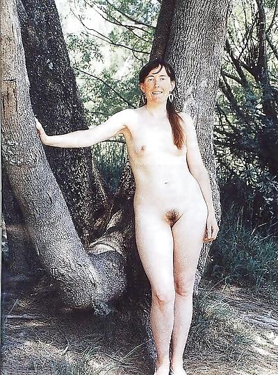 Vintage beach nudist..