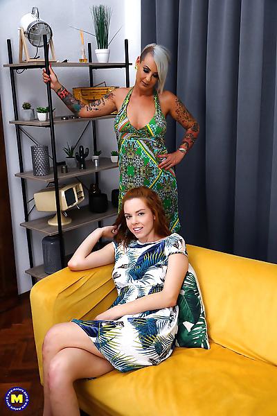 Lesbian girls Xandra and..