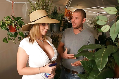 Big boobed florist Sara Jay..