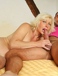 My wifes mom is fucking her pussy deep and hard with her son in - part 4372