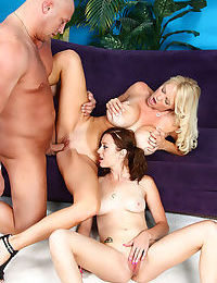 Very hot mom and her kinky little daughter craving huge dick - part 674