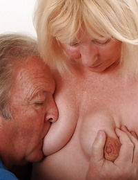 Horny senior citizen Angeline and her husband still fucking hard in their 70s