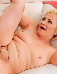 Older woman Dolly Blonde gets fucked hard by her much younger lover